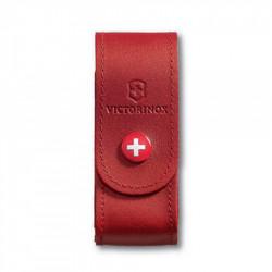 Victorinox - Funda de piel roja con botón para modelos 91 mm (2 a 4 capas) [4.0520.1] |