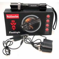 LINTERNA LED - TACTICA TIPO SWAT RECARGABLE [C201C] …